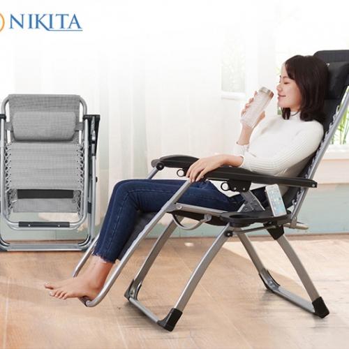 Ghế gấp thư giãn Nikita có khay đựng ly - NIKA 139A