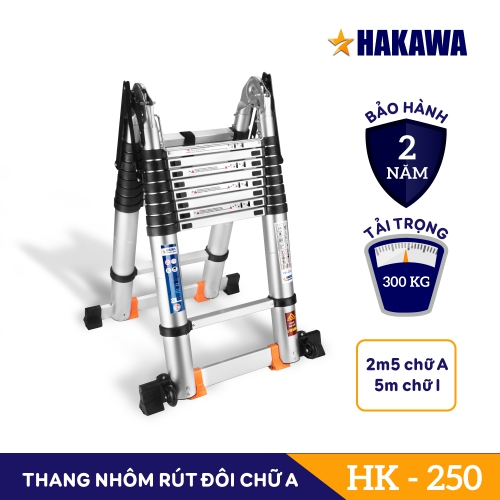 Thang Nhôm Rút Đôi Chữ A HAKAWA HK-250
