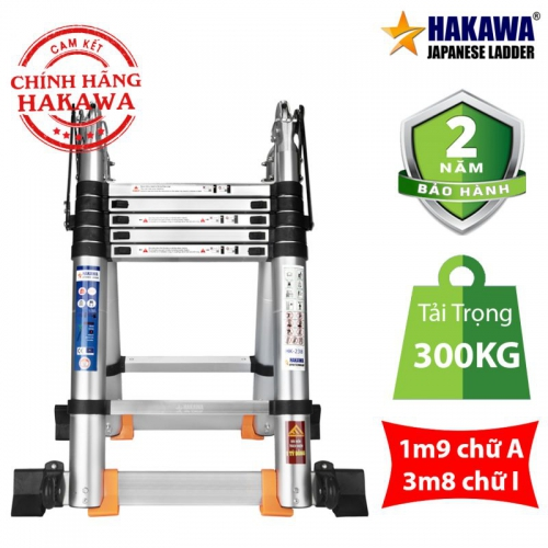 Thang Nhôm Rút Đôi Chữ A HAKAWA HK-238