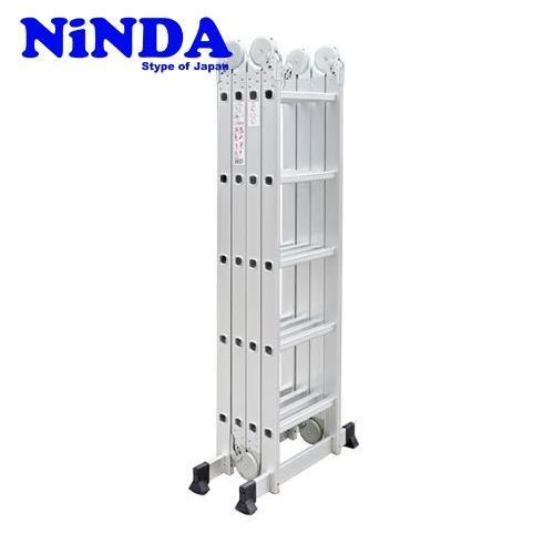 Thang nhôm gấp khúc chữ M Ninda ND-405C (Khóa to)