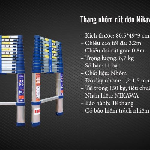 THANG NHÔM RÚT ĐƠN NK-32 NEW