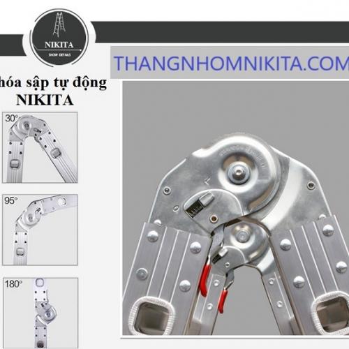 Thang Nhôm Gấp Khúc Nikita TGA80 chữ A 4m (Nik74A)