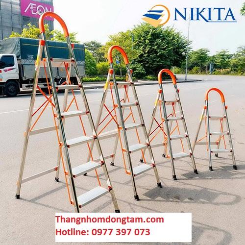 Thang ghế Inox 6 bậc Nikita NKT-IN06 (1.5m)