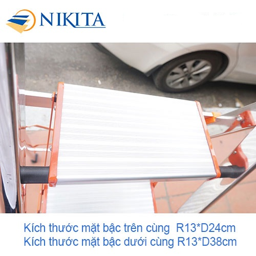 Thang ghế Inox 5 bậc Nikita NKT-IN05 (1.2m)