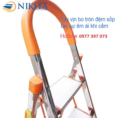 Thang Ghế 3 Bậc Inox Nikita NKT-IN03