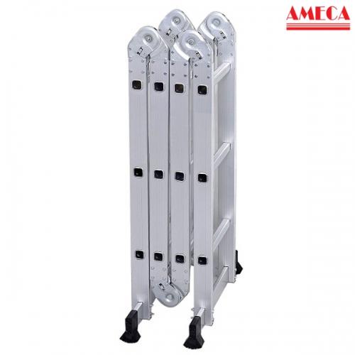 Thang nhôm gấp đa năng 4 khúc/đoạn Ameca AMC-M203 cao 3,5m