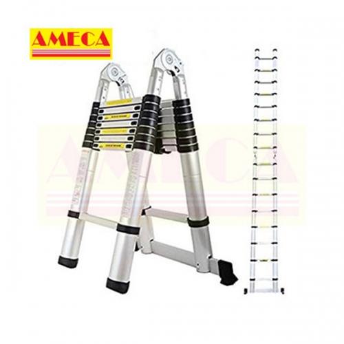 Thang nhôm rút/xếp đôi Ameca AMI-500 chiều cao chữ A 2,5m