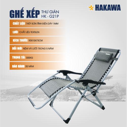 ghế xếp thư giãn hakawa g21p