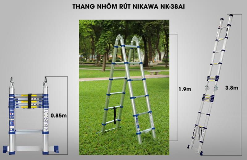 Thang nhôm rút đôi NIKAWA 38AI