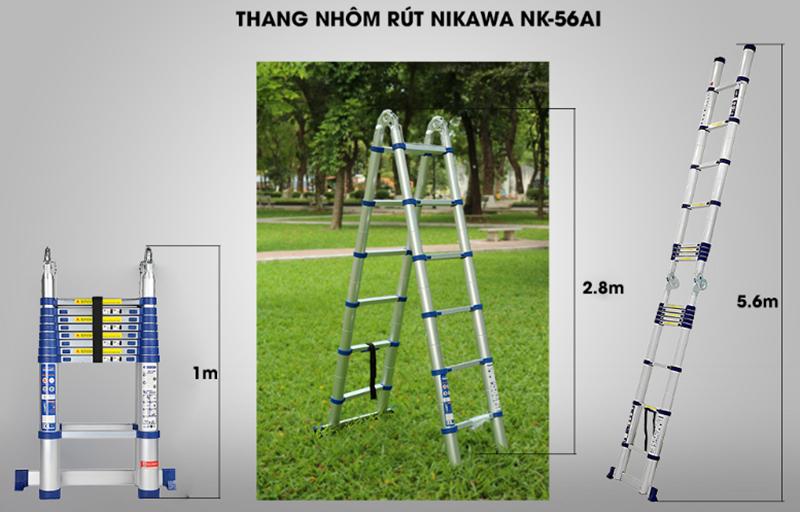 Thang nhôm rút đôi NIKAWA 56AI