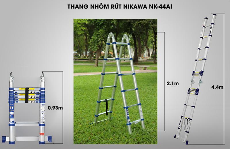 Thang nhôm rút đôi NIKAWA NK44AI