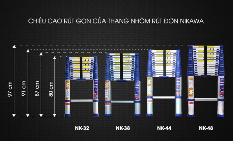Thang nhôm rút đơn NIKAWA NK – 32 NEW