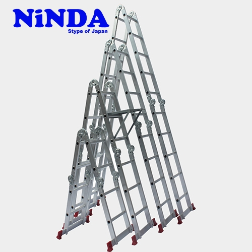Thang nhôm gấp khúc chữ M Ninda ND-404C
